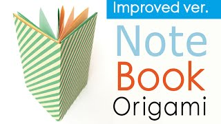 Easy☺︎ Origami Paper Note Book (Notebook) DIY✨Instructions【Improved ver.】【A4 paper】- Origami Kawaii