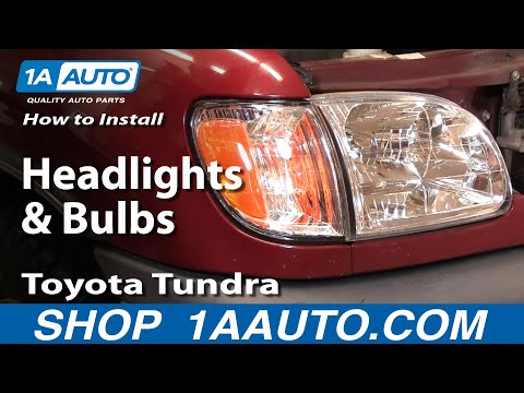How To Install Replace Headlights and Bulbs Toyota Tundra 00-04 1AAu
