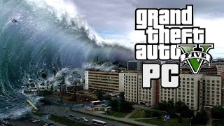 TSUNAMI HITS LOS SANTOS - APOCALYPSE IN  GTA V PC - Mod Gameplay