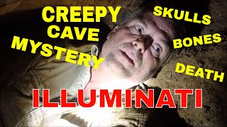 """The Pit Of Death"" Cave: Bones Skulls Mysterious Masonic Symbols"