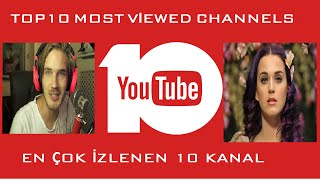 Top 10 Most Viewed YouTube Channels 2016 / En Çok İzlenen Youtube Kanalları 2016