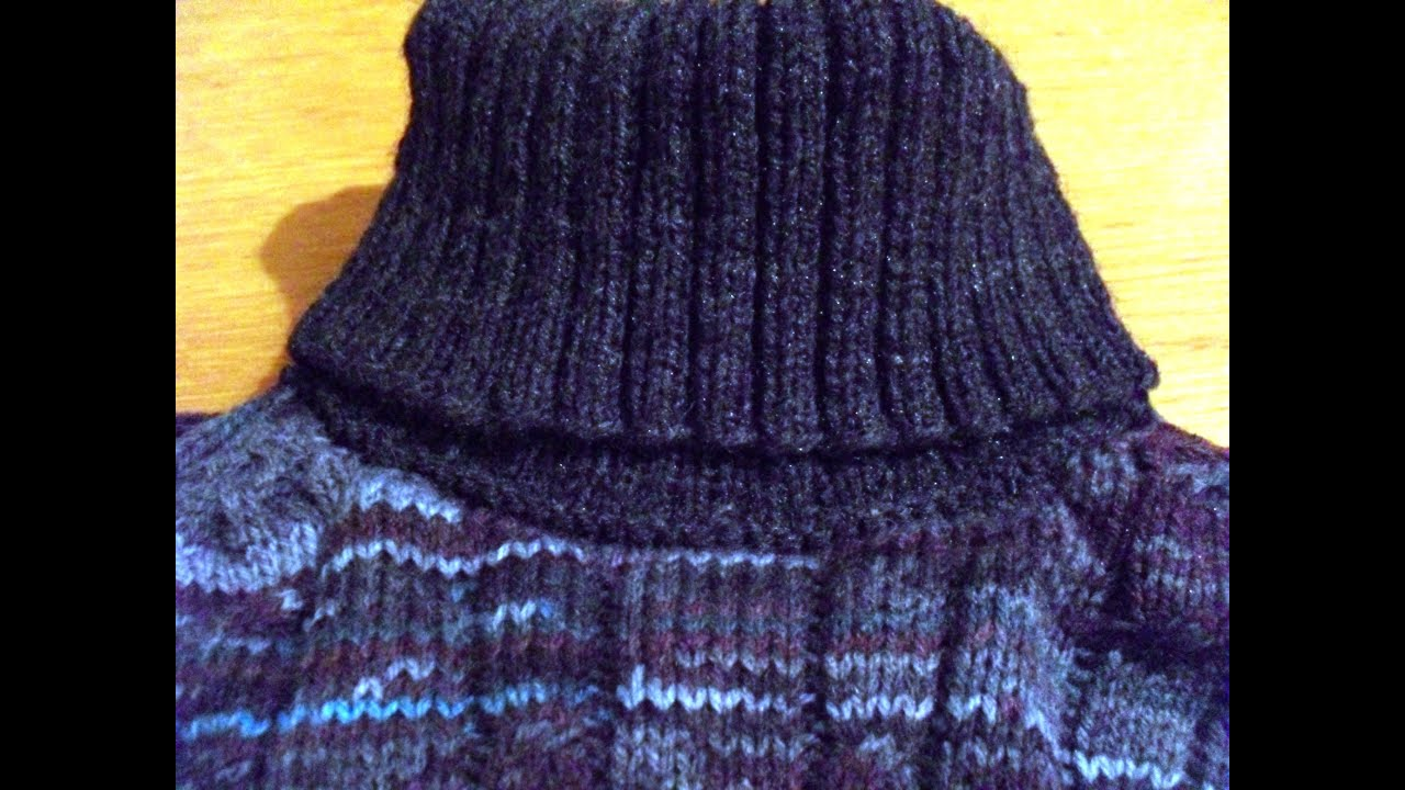Вяжем горловину свитера видео 32