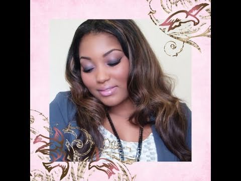 Fall Makeup Tutorial: Wearable Smokey Purple Eyes & Soft Pink Lip
