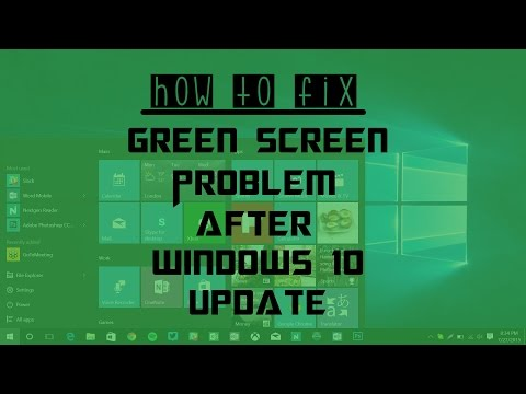 How To Fix Green Screen Problem After Windows 10 Update (2015)