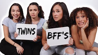 TWINS vs. BFF'S (twin telepathy challenge)