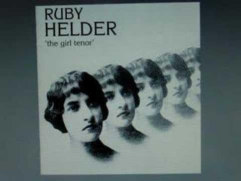 GIRL tenor RUBY HELDER 23-yr-old Miss sings from Balfe opera