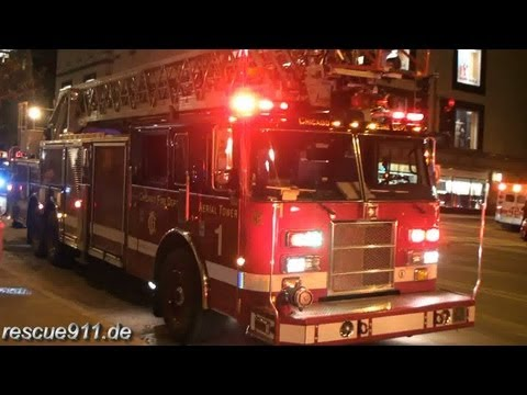High-rise fire - Chigago fire department [Ride along]