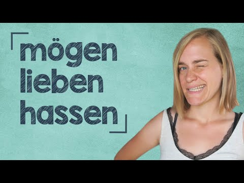 German Lesson (156) - I LIKE/LOVE/HATE/PREFER to do this - mögen ∙ hassen ∙ lieben ∙ bevorzugen - A2