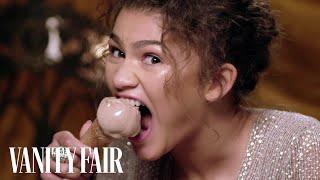 Zendaya Eats Ice Cream With Her Teeth   Secret Talent Theatre   Vanity Fair