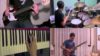Dream Theater - Under A Glass Moon (Images Words) - SPLIT SCREEN COVER - The Unflexable Band