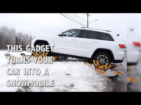 This Gadget Turns Your Car Into a Snowmobile | Track N Go