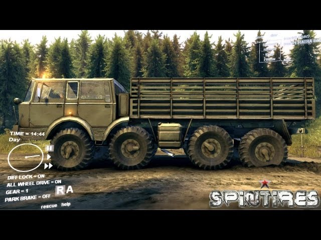 Spin Tires Dev Demo July 2013 - TATRA 813 KOLOS Test Drive
