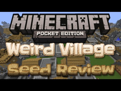 Minecraft Pocket Edition - Broken Village (Weird) - Seed Review 0.9.0