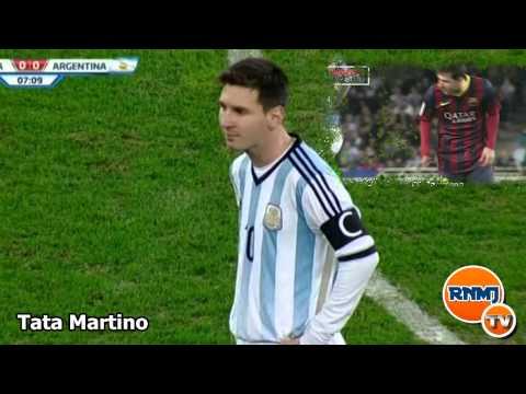 Messi vomitando Rumania vs Argentina 05/03/2014
