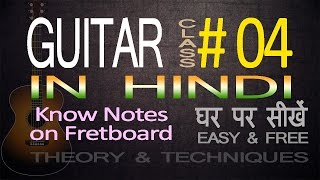 Complete Guitar Lessons For Beginners In Hindi 04 Location of Notes on Fretboard