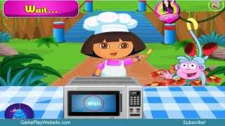 Dora Cake Preparation Baking Game - Online Girl and Baby Games
