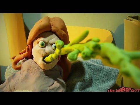 El Exorcista con muñecos de plastilina