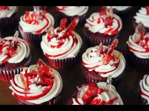 Bloody Broken Glass Cupcakes Youtube