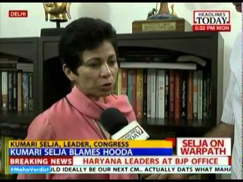 Kumari Selja blames Hooda for Congress rout in Haryana
