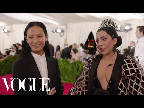 Lady Gaga and Alexander Wang at the Met Gala 2015 | China: Through the Looking Glass