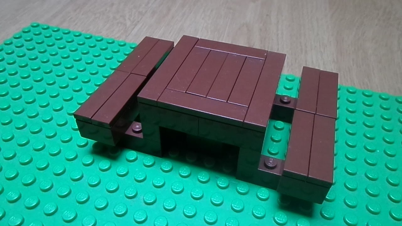 Tutorial How To Make A Lego Picnic Table Youtube