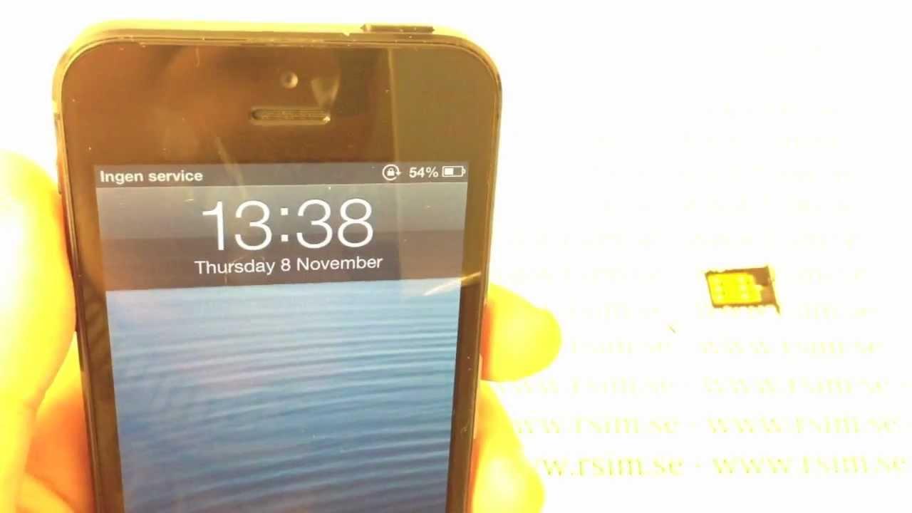 Lås upp iPhone 5 med iOS 6.0 & 6.0.1 - YouTube