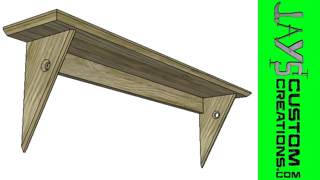 SketchUp - Curtain Rod Shelf - 105 - YouTube