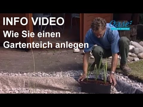 gartenteich anlegen video wie sie einen gartenteich selber bauen schritt f r schritt youtube. Black Bedroom Furniture Sets. Home Design Ideas