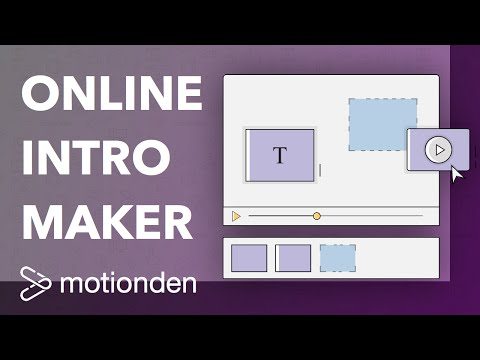 Online Intro Maker - Free Online Animated Video Maker | MotionDen