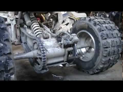 How to Tighten the chain 04 Yamaha Raptor 660R tutorial