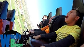 MY SON ALMOST POOPED HIS PANTS ON A ROLLER COASTER!