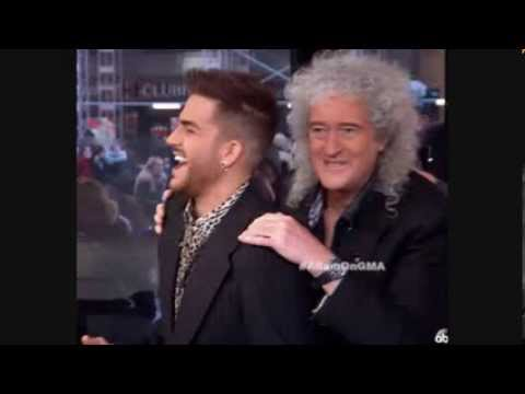 HD Adam Lambert on Ryan Seacrest Mar 7 Queenbert Tour GIFS Pics GMA Press Conference