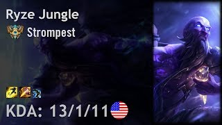 Ryze Jungle vs Lee Sin - Strompest - NA Challenger Patch 7.17