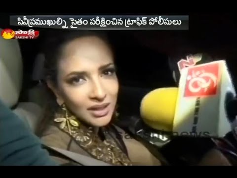 Manchu Lakshmi Counselling for Drunken Drivers    Brand Ambassador for the Hyderabad Traffic Police Photo Image Pic