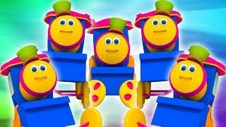 Bob den Zug | fünf kleine Babys | springende Reime für Kinder | Bob the Train | Five Little Babies