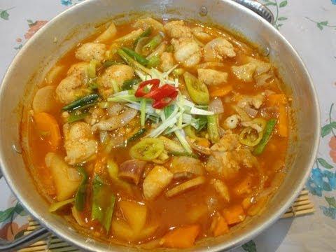 حساء فيليه السمك الكورىKorean fish fillets soup동태국 Music Videos
