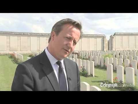 David Cameron visits war graves for WW1 centenary