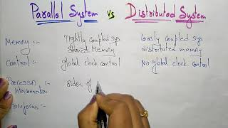 difference between parallel  and distributed system   OS  