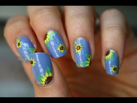 Sunflowers Tutorial Nail Art