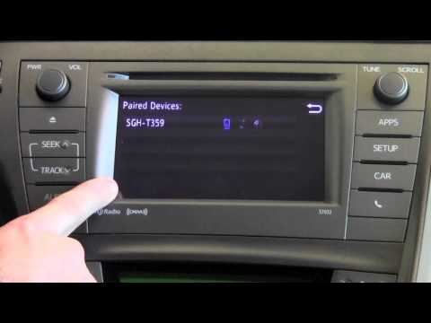 2012 Toyota Prius Bluetooth Phone Settings How To By