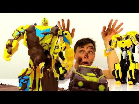 Шоколадный #БАМБЛБИ 🍫 Фёдор и #Трансформеры на Фабрике ШОКОЛАДА Игры #машинки для мальчиков