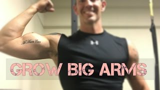 HOW TO GROW BIG ARMS  FULL WORKOUT Fitness Over 40