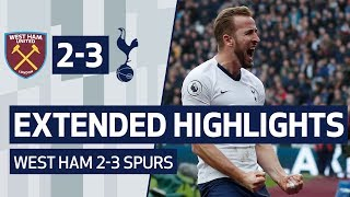 EXTENDED HIGHLIGHTS | WEST HAM 2-3 SPURS