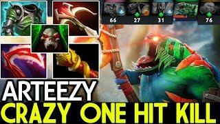 Arteezy [Tidehunter] Crazy One Hit Kill Epic 1 VS All Cancer Build 7.21 Dota 2