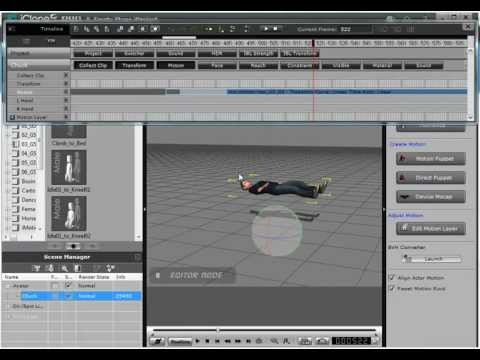 Aligning motions in iClone 5