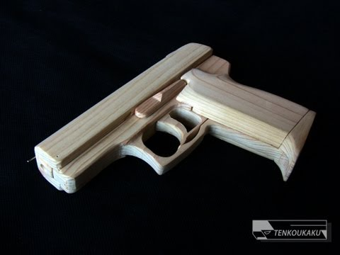 Blowback rubber band gun : Assembly - USP Compact Type