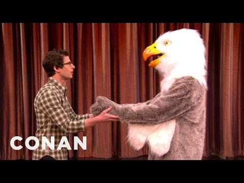 Andy Samberg Will NOT Make Out With A Bald Eagle - CONAN on TBS