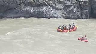 Rafting.accident rescue.ladakh.