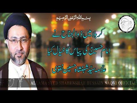 Karbala Mai Zuljanah Ne Imam Hussain A.S. K Piyaas Ka Khayal Kiya