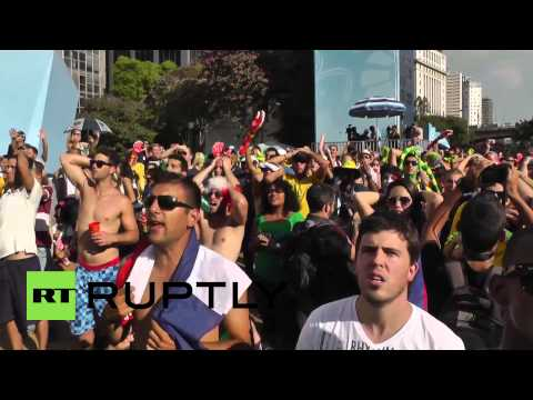 Brazil: Fans go wild during Germany-France clash